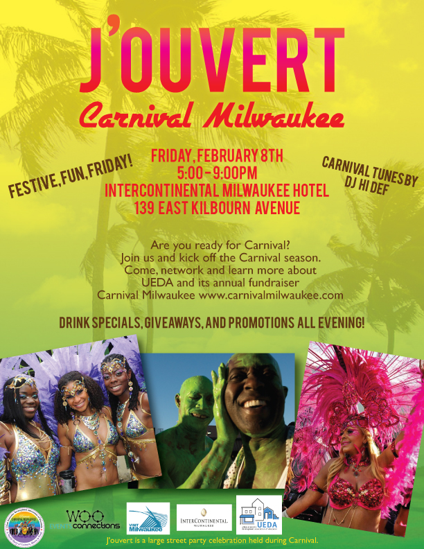 J'ouvert Carnival Milwaukee Event Flyer