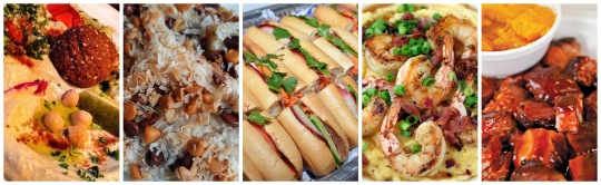carnival food collage banner